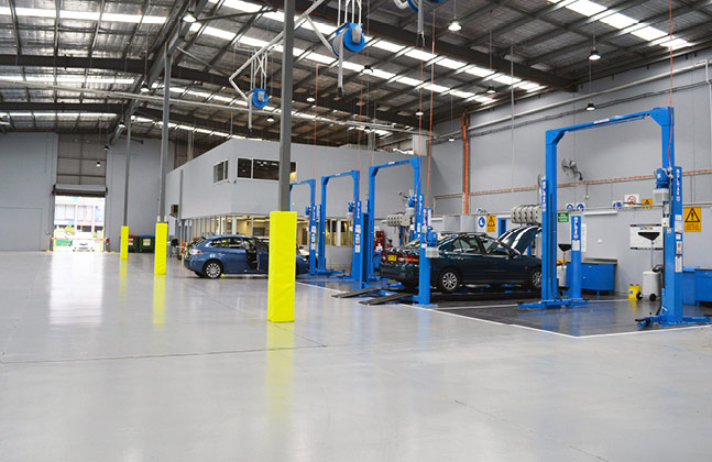 Under the Hood with Resin Underfoot: Flooring for the Automotive Sector