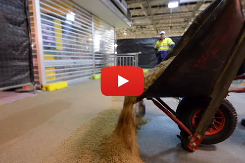 Installation of Flowfast Quartz Scatter - City of Perth Train Station